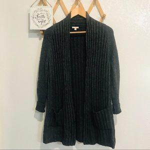 ❤️5/$25 Gap Open Gray Ribbed Cardigan Sz XS/S